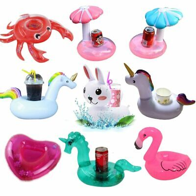 Inflatable Cup Holder Drink Coasters Swimming Float Boats Pool Party Water Fun](Flamingo Drink Holder)