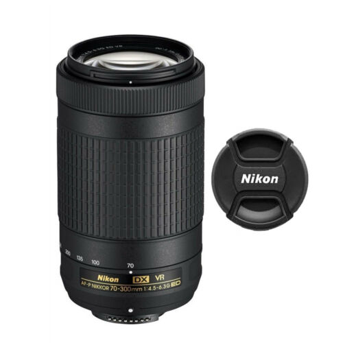 Nikon AF-P DX 70-300mm f/4.5-6.3G ED VR Lens 20062 for Nikon D3400 D5300 D5500