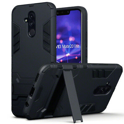 ASCOT Case Heavy Duty  Bumper Black Cover Flip Stand  For Mate 20 LITE