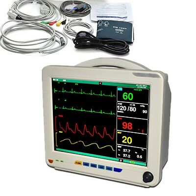 Medical 12.1 Icu Ccu 6-parameter Vital Sign Patient Monitor Nibp Spo2 Ecg Ekg