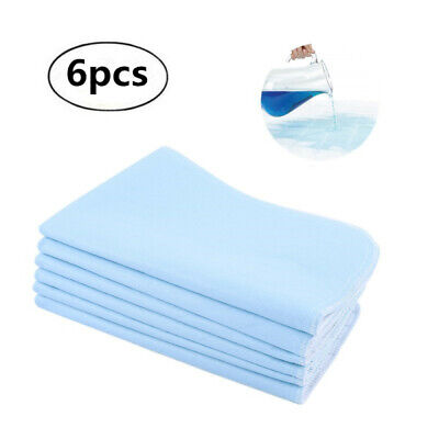 6 New Bed PADS Reusable Underpads 45*60 Hospital Grade Incontinence Washable -