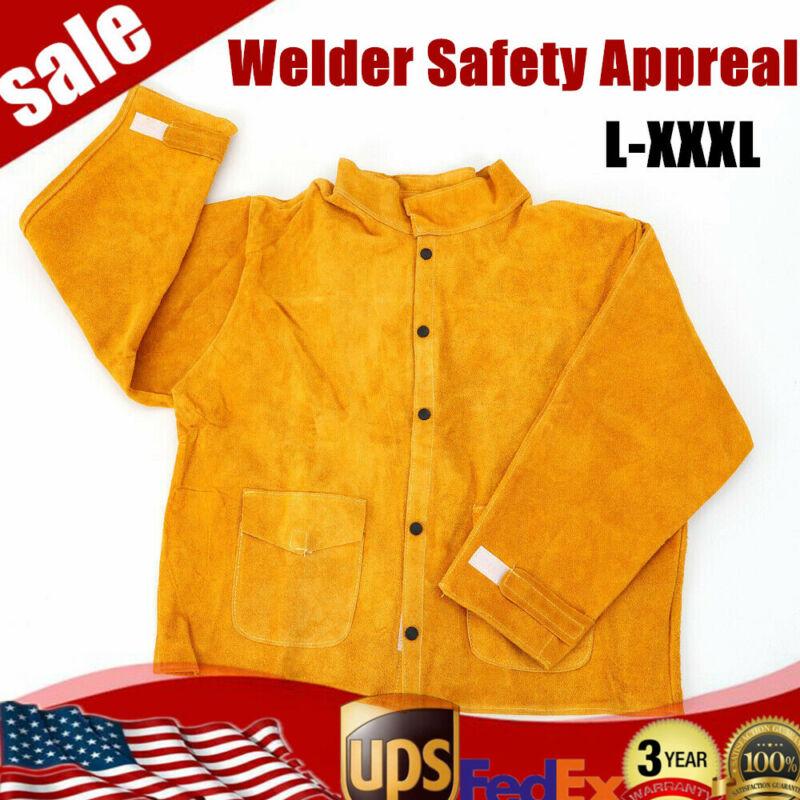 Welder Jacket L / XL / XXL / XXXL Protective Coat Cowhide Leather Apparel Suit