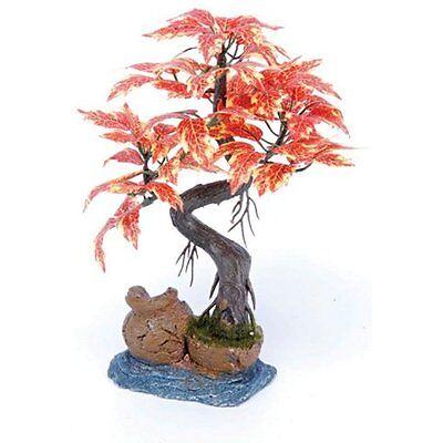 Plastic Water Plant Red Bonsai Tree Artificial Fish Tank Decor Aquarium Ornament