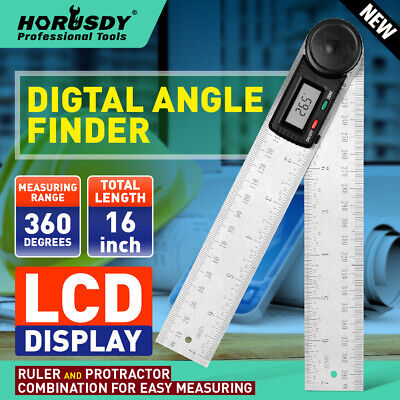 8 Electronic Digital Protractor Goniometer Angle Finder Miter Gauge 2 Batteries