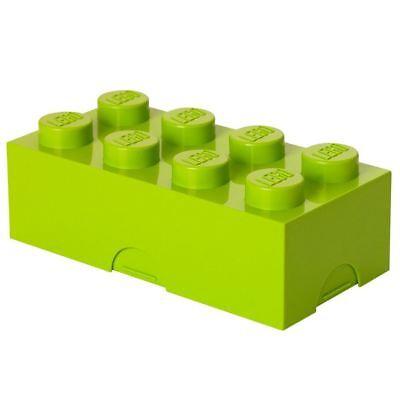 Oficial Lego Fiambrera Ladrillo Almacenaje Infantil Verde Lima