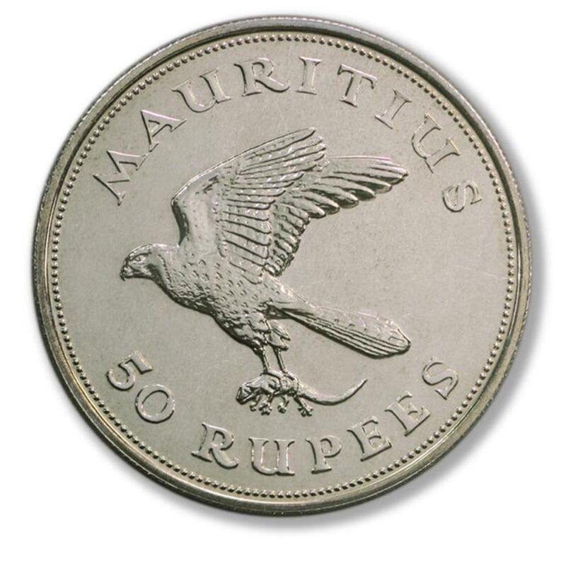 WWF Mauritius Kestrel 50 Rupees 1975 BU