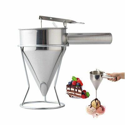 Stainless Steel Funnel Small Octopus Balls Tools With Rack Cupcakes Baking Dispe