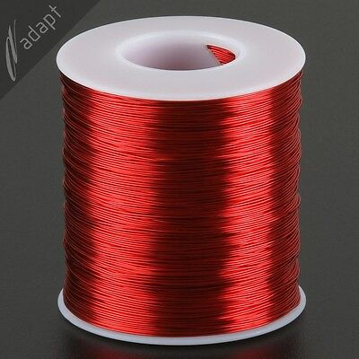 25 AWG Gauge Magnet Wire Red 1000' 155C Enameled Copper Coil Winding