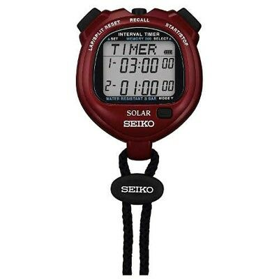 - SEIKO SVAJ103 Solar Stop Watch PROSPEX Interval Timer Power Red Japan Tracking