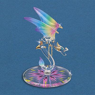Glass Baron ~ Dragon - Kaleidescope ~ Blue Crystal Eyes & 22kt gold