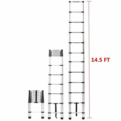 14.5ft Step Ladder Extension Telescoping Lightweight Portable Telescopic Us