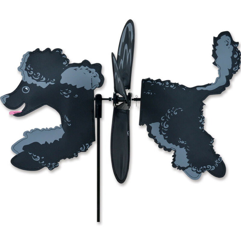 Poodle Black Garden Wind Spinners