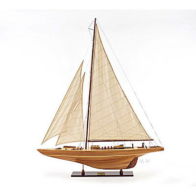 "America's Cup Endeavour 1934 Yacht Wood Model 40"" Sailboat J Boat New"