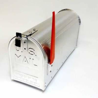 U.S. amerikanischer Briefkasten - Zeitungsbox - US Mailbox - Aluminium - silber