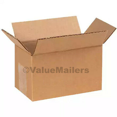25 12x7x5 Cardboard Shipping Boxes Cartons Packing Moving Mailing Box Storage