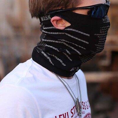 Motorcycle Biker Balaclava Bandana Face Mask Neck Warmer Tube Scarf Snood Hood