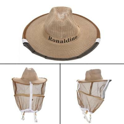 Beekeeping Garden Guard Cowboy Hat Anti Mosquito Bee Insect Bug Face Head Veil H