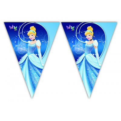 Disney Cinderella Happy Birthday Party Themed Flag Bunting Banner 3m Long