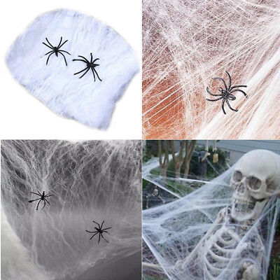Funny Halloween Super Stretch Spider Web for Home Bar Party Festival - Halloween Spider Webbing