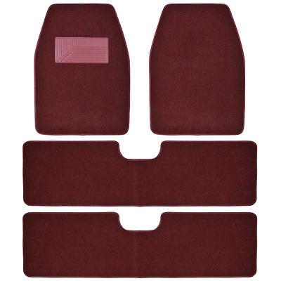 BDKUSA 3 Row Best Quality Carpet Floor Mats for SUV Van - 4 Pcs -