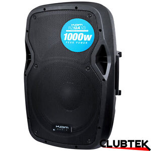KAM RZ12A V3 Active Powered 12'' PA Speaker 1000W DJ Disco Stage Monitor UK