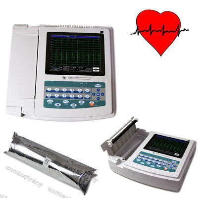 Contec Ecg Ekg Electrocardiograph Machine 12-channel 12 Leadtouchsoftwareusa