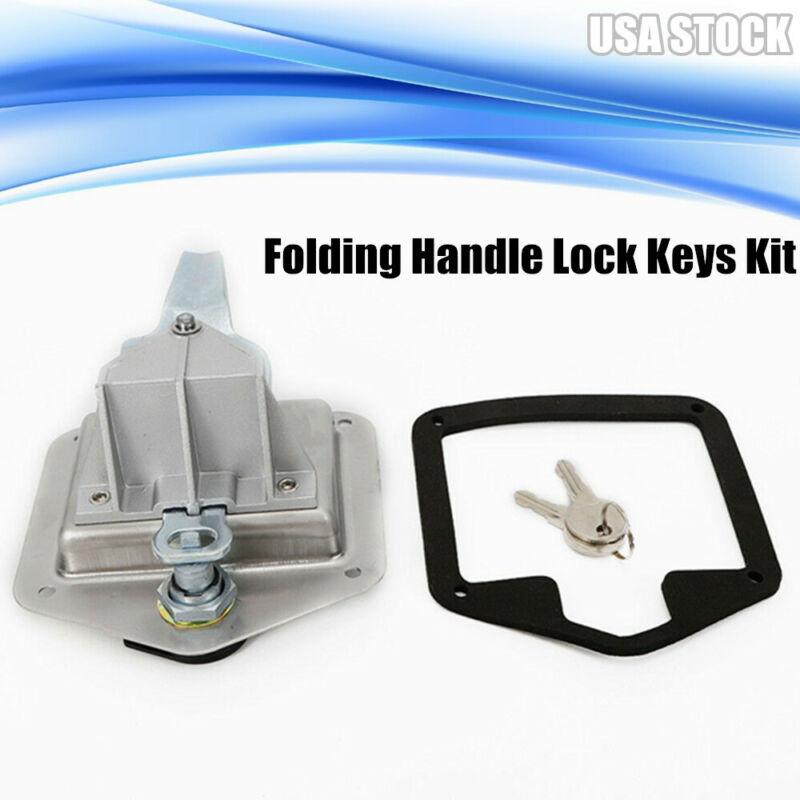Stainless Steel T Shape Handle Lock Tool Box Keys Gasket Truck Trailer