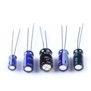 210Pcs-25-Value-0-1uF-220uF-Electrolytic-Capacitors-Assortment-Kit-Set-LS4G