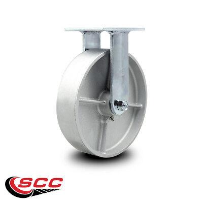 Scc 8 Semi Steel Cast Iron Wheel Rigid Caster - 1200 Lbscaster