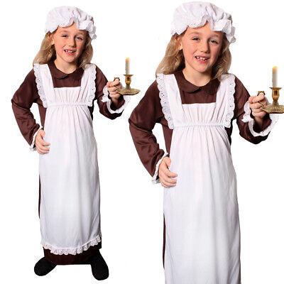 GIRLS POOR VICTORIAN COSTUME SCHOOL BOOK DAY KIDS HISTORICAL TUDOR FANCY DRESS - School Victorian Day Kostüm