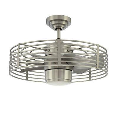 "Kendal Lighting Enclave 23"" Satin Nickel Ceiling Fan 2540 cfm AC17723-SN FAST!"