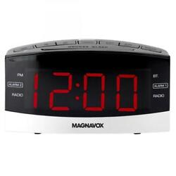 Magnavox Dual Alarm Digital AM/FM Clock Radio with Bluetooth Black