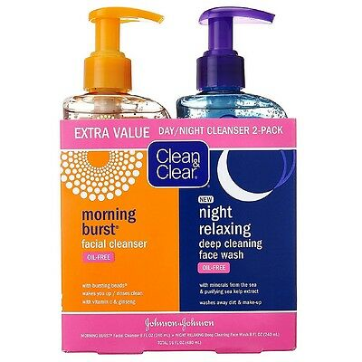 Clean   Clear Morning Burst Night Relaxing Cleansing Face Wash Pack 1 Ea