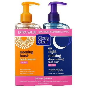 CLEAN - CLEAR Morning Burst/Night Relaxing Cleansing Face Wash Pack 1 ea