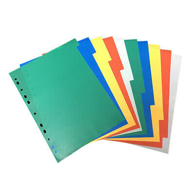 20 Pages Colorful Tab Dividers Documents Binder Index Page Classified Lables