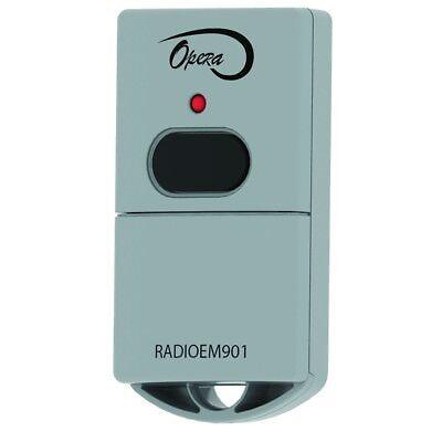 Manaras-Opera RADIOEM-901 1-Button Keychain Garage Door Opener Transmitter (Repl