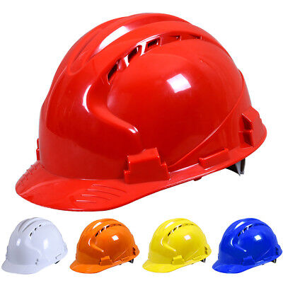 Rib Top Construction Hard Hats Abs Work Job Protective Safety Helmet Breathable