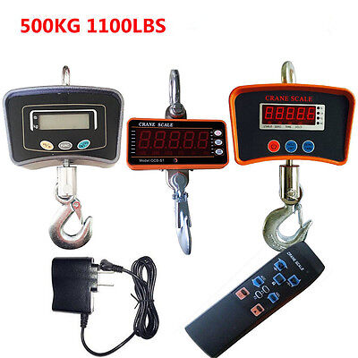Heavy Duty Lcd Digital Crane Scale Industrial Hanging Scale 500kg1100lbs Usa