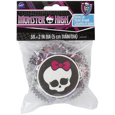 Wilton MONSTER HIGH Birthday Party Theme Baking Cups Pkg. 50 Cupcake Liners - Monster High Birthday Theme