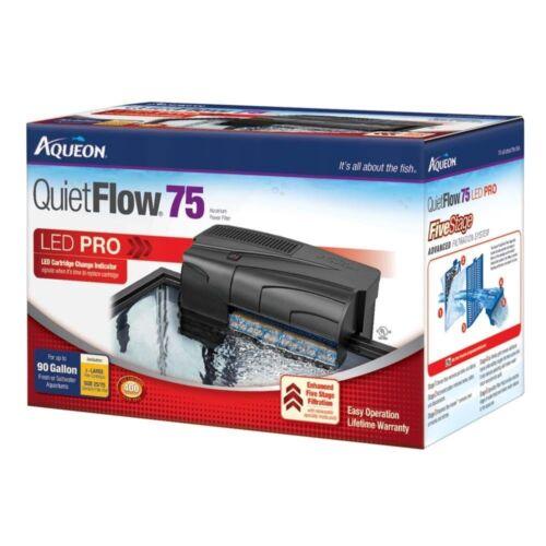 Aqueon Quiet Flow Aquarium Power Filters - 55/75 Filter for Tanks Up to 90 Gal.