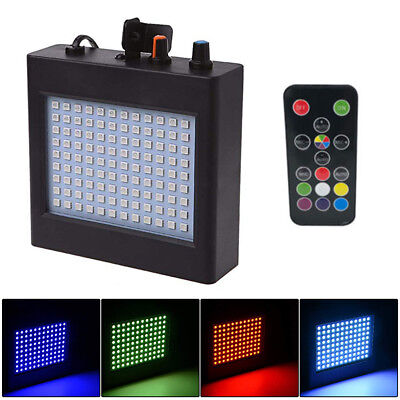 108 RGB LED Strobe Lights Party Lights Activated Disco Bulb Auto Sound DJ+Remote
