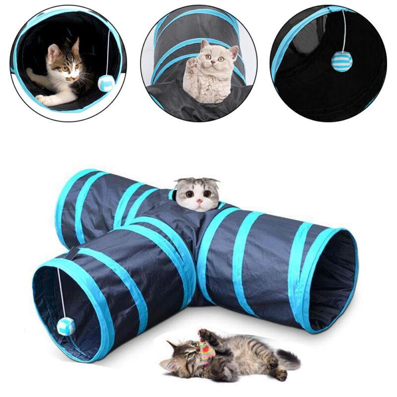 Katzentunnel Katzenspielzeug Katze Tunnel 3 Wege faltbar Spieltunnel