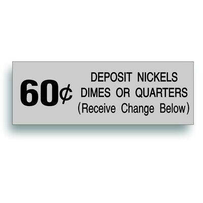Vending Machine 60 Cent Decal Vintage Soda Pop Soft Drink Coin Slot Fits Vendo