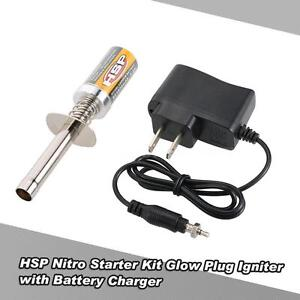 HSP Nitro Starter Kit Glow Plug Igniter with Battery Charger for HSP RC Car