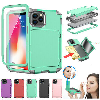 Luxury Women Mirror Phone Case Wallet Card Holder For iPhone 11 Max XR Xs 6s 7 (Iphone 7 Phone Case With Card Holder)