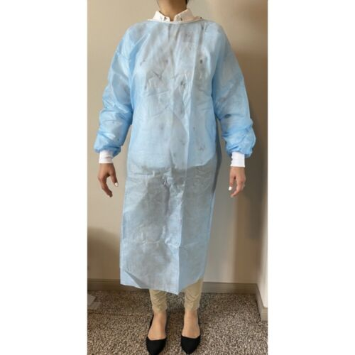Disposable Isolation Gown SMS FabricBreathable Water Resistant_Same Day Shipping