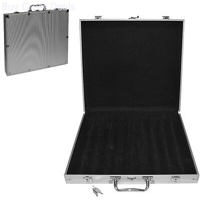 Casino Poker Chip Capacity Carrier Aluminum Hard Side Chips Case (1000-Count)