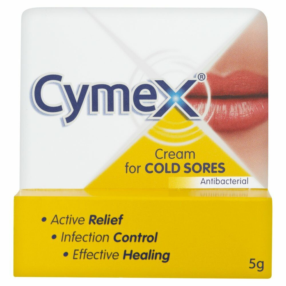 Cymex Cream For Cold Sores & Dry Cracked Lips 5G, Pack Of