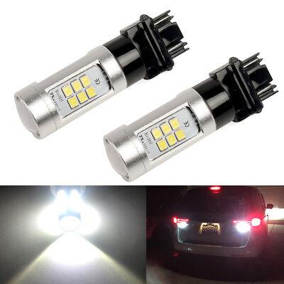 Total 2200LM 6000K White High Power 3156 3157 LED Reverse Backup Light Bulbs