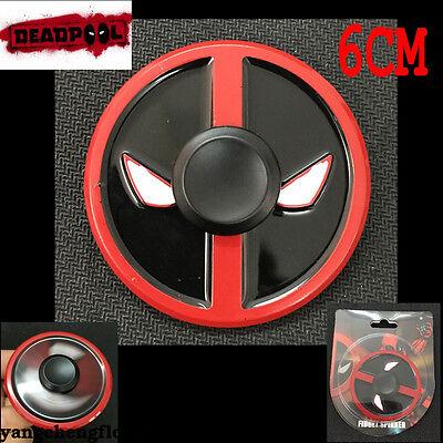 Marvel Xmen Deadpool EDC Hand Spinner Finger Fidget EDC Metal Gyro Toy Kids Gift